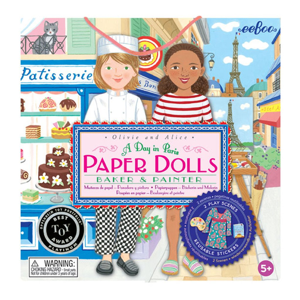 eeBoo Baker and Painter Paper Doll Set for Girls by eeBoo