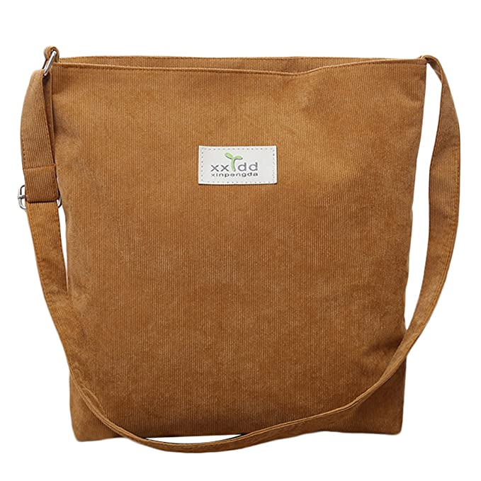 c36c1a0688c2 Image Unavailable. Image not available for. Color  Fanspack Women s Tote  Handbags Casual Lightweight Corduroy Canvas Messenger Bag Crossbody Shoulder  ...