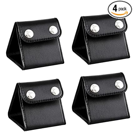 4 Pcs Car Seat Belt Clips Adjusters For Adults And Kids PU Leather Seatbelt Locking