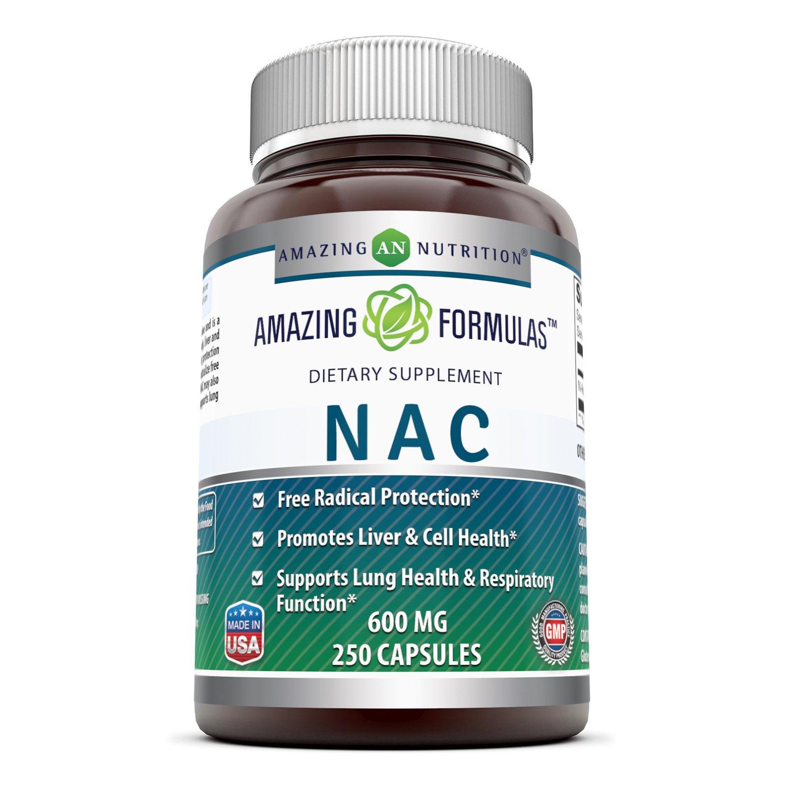 Amazing Formulas NAC 600 Mg 250 Capsules