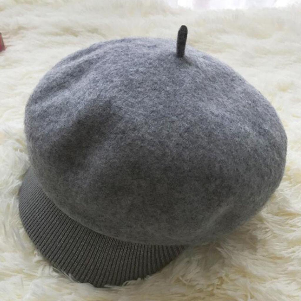Otoño e invierno Retro Menny Sombrero octogonal Modelos femeninos Además de cachemira Más grueso Man...