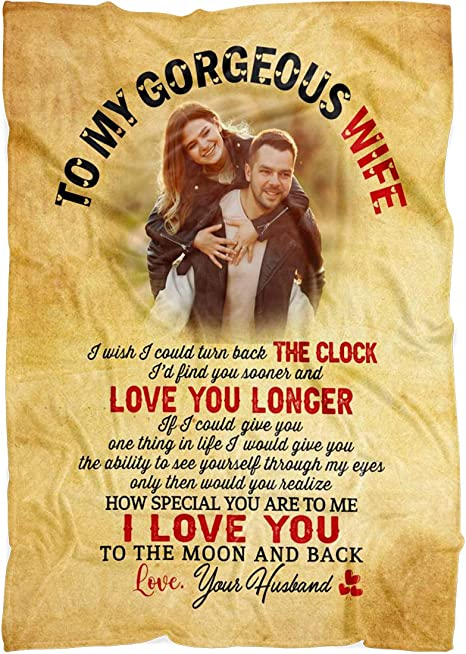 To My Gorgeous Wife Never Forget That I Love You Custom Fleece Blanket Gift