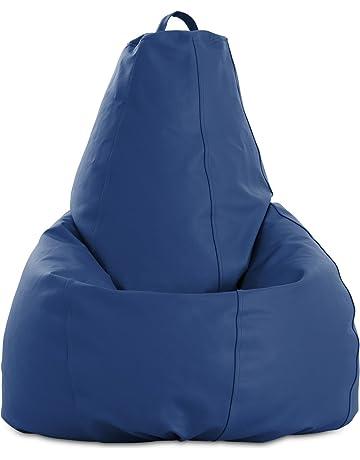 textil-home Puf - Pera moldeable XXL Puff - 90x90x135 cm Tejido Polipiel Alta Resistencia