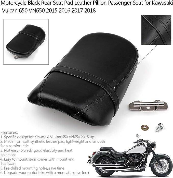 Artudatech Motorrad Rücksitz Beifahrersitz Leder Ersatz Pillon Sitzkissen Für K A W A S A K I Vulcan 650 Vn650 2015 Auto