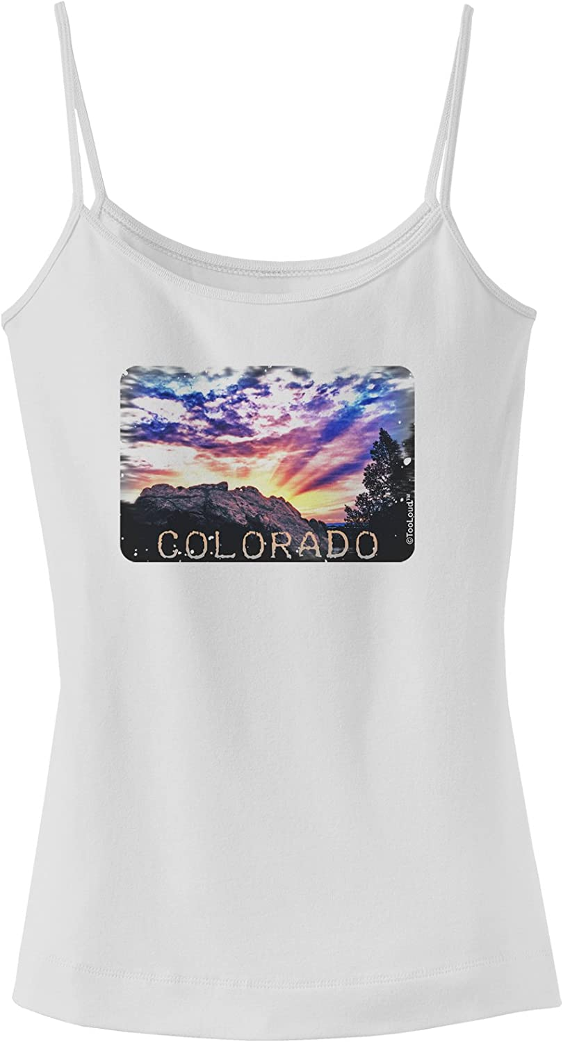 TooLoud Colorado Painted Rocks Text Muscle Shirt