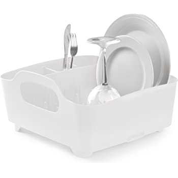 Amazon Com Umbra Tub Dish Drying Rack Lightweight Self