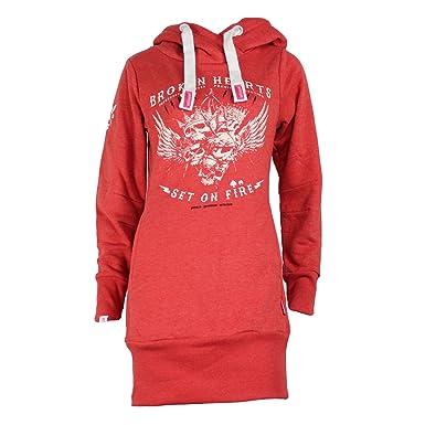 eda6225f3a7b Yakuza Premium Damen Long Sweatshirt 2346 coral  Amazon.de  Bekleidung
