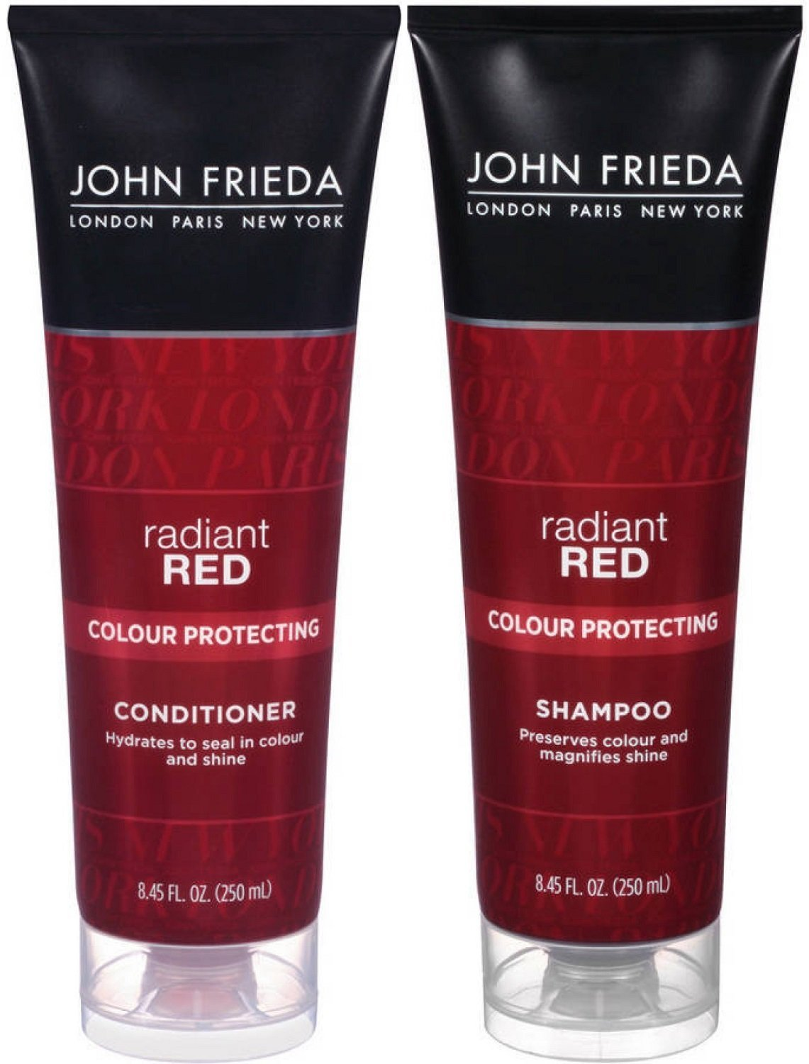 John Frieda Radiant Red Colour Protecting, DUO set Shampoo + Conditioner, 8.45