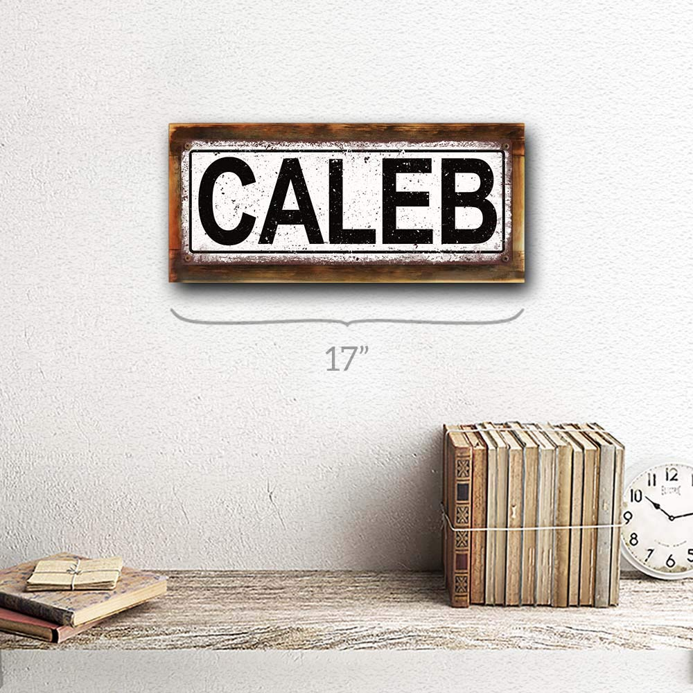 Homebody Accents Caleb 6x16 Metal Sign Wall D/écor for Kids Room and Nursery