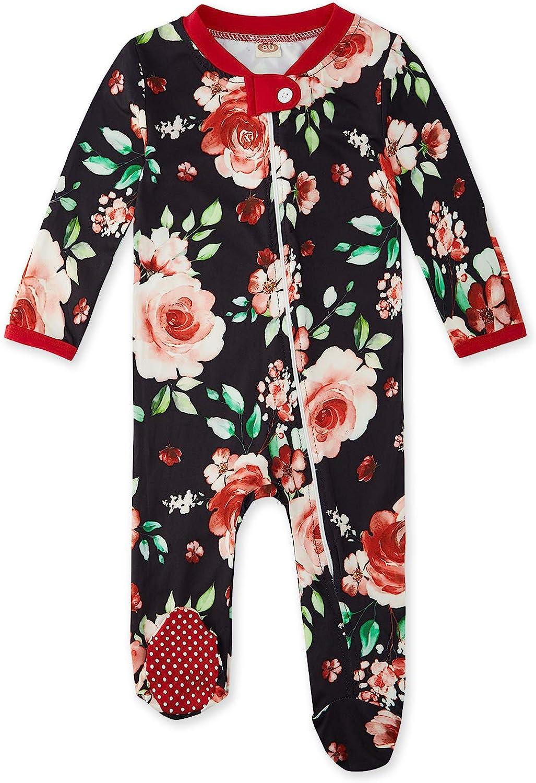 Fanient Baby Girls Boys Pajamas One-Piece Snug Fit Footed Sleep and Play Newborn Long Sleeve Zip Non-Slip Sleepers