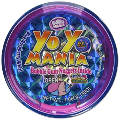 Bubble Mania Yo Yo Mania Bubble Gum Nugget Yo Yo Novelty Candy Toy (Pack of 12): Grocery & Gourmet Food