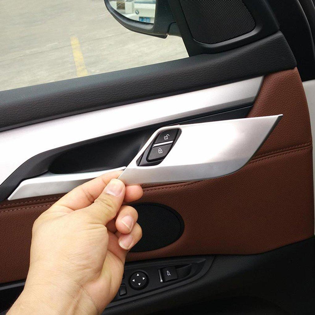 Intérieur de voiture accessoire de 4pcs/lot en ABS chromé de sécurité Verrou de porte Coque Bordure Stickers Agodor-908