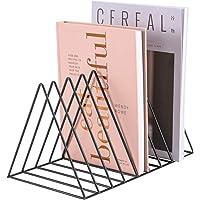 "Simmer Stone Magazine Holder Rack, Desktop File Sorter Book Rack Organizer, 9 Slot Triangle Shape, Size 12.2""L X 7""W X 6…"