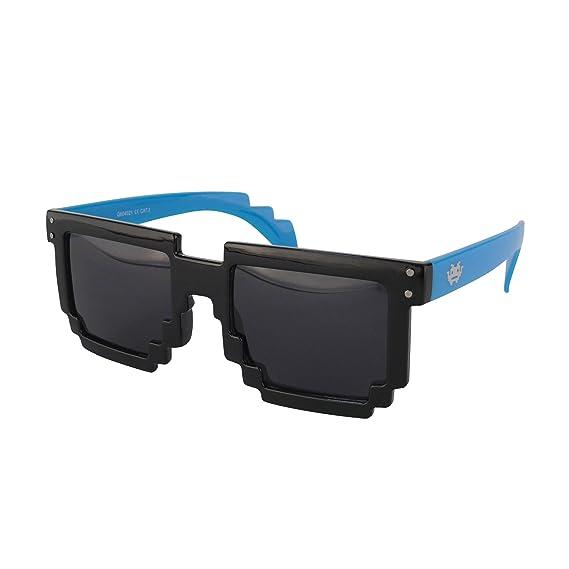 Ciffre-UV®400 Lunettes de Soleil STYLE Nerd Retro Vintage Norme UV 400 Lunette Mat Bleu h389UedzoP