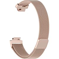 TenCloud for Fitbit Inspire & Inspire HR Fitness Tracker Band, Magnetic Milanese Loop Stainless Steel Accessory Men Women Band Wristband Strap Sports Replacement Wristband for Fitbit Inspire & Inspire HR Fitness Tracker (small, Champagne)