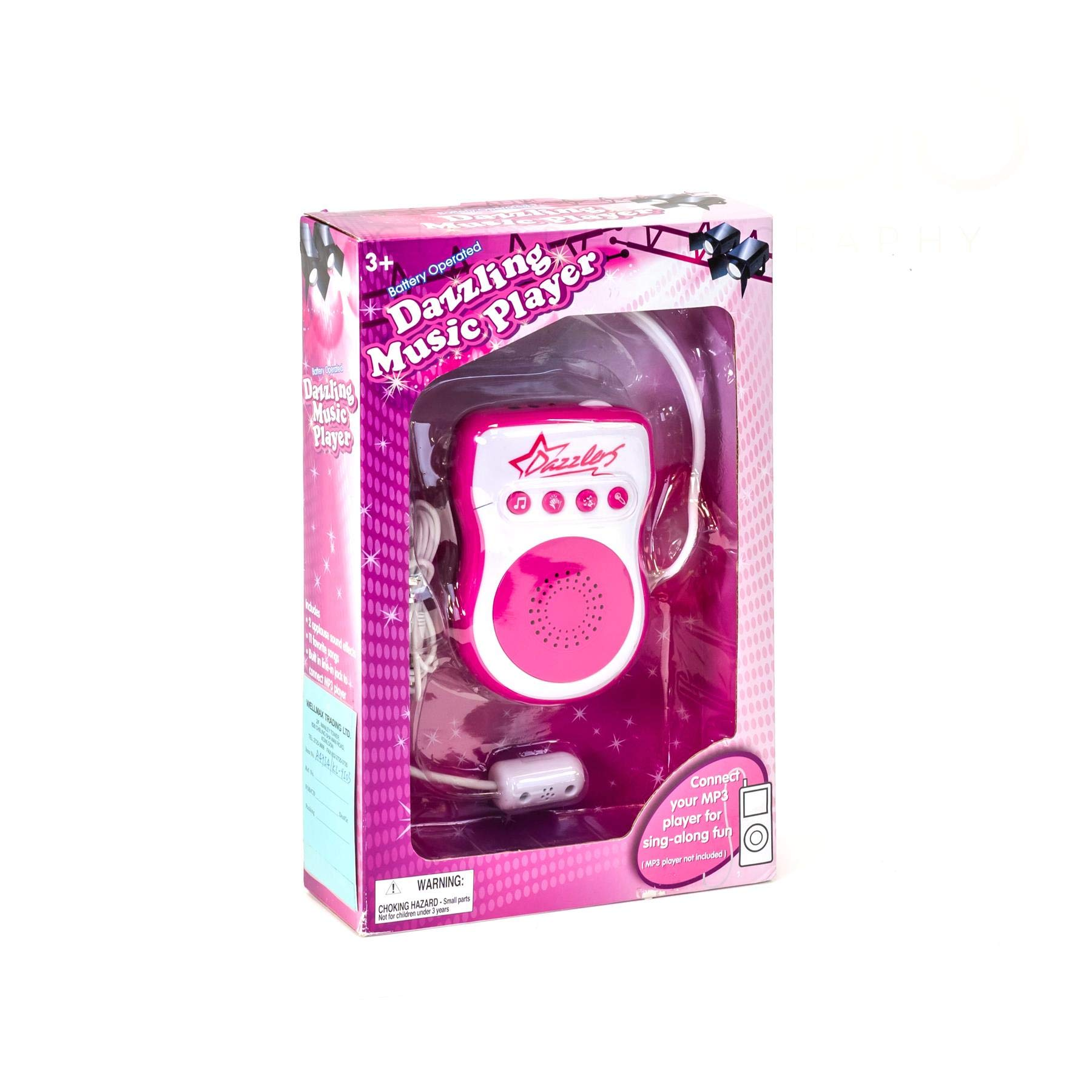 Headset Microphone Dazzling Music Player MP3 Sing Along Gift for Girls +4 by Buyer (Image #1)