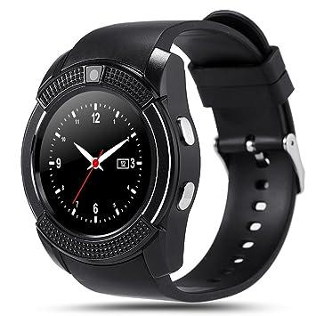 Kivors Reloj Inteligente, Bluetooth Smartwatch Pulsera ...