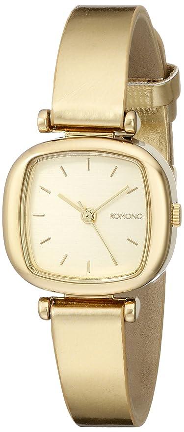 Komono moneypenny Metalic Gold Reloj de mujer de cuarzo con Esfera Analógica Pantalla y Correa de