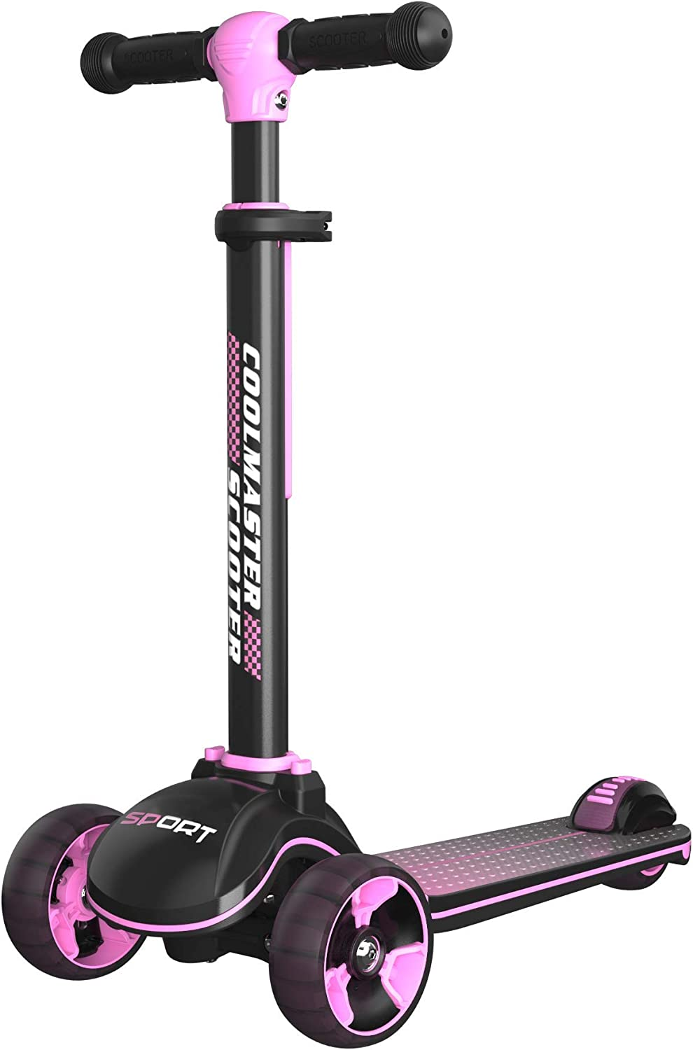 Voyage Sports X8 Fold Scooter,Height Adjustable,Light Up Wheels