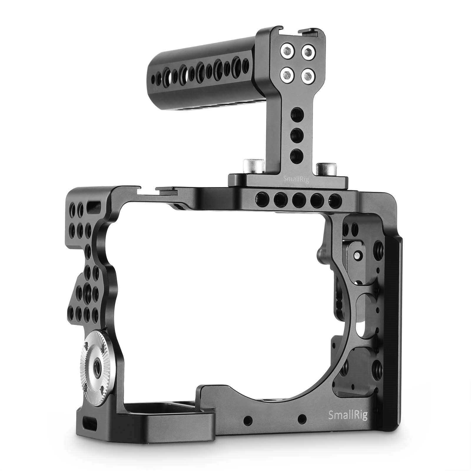 SmallRig Camera Cage for Sony Alpha A7 II/ A7R II/ A7S II Mirrorless Digital Camera with Top Handle and HDMI Cable Lock - 2014 by SmallRig
