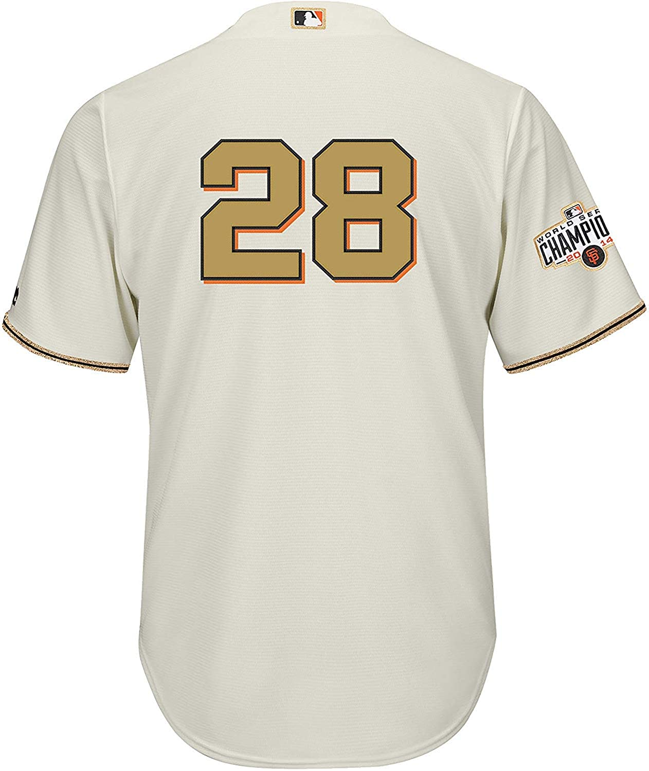 Buster Posey San Francisco Giants Cream Golden Program Youth Cool Base Replica Jersey