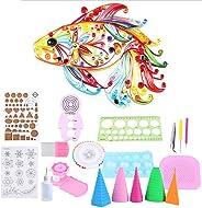 Yosoo 19Pcs Papel Quilling DIY Craft Herramienta Scrapbooking Papel Multifuncional Tablero Kit Completo Hecho A Mano Tablero