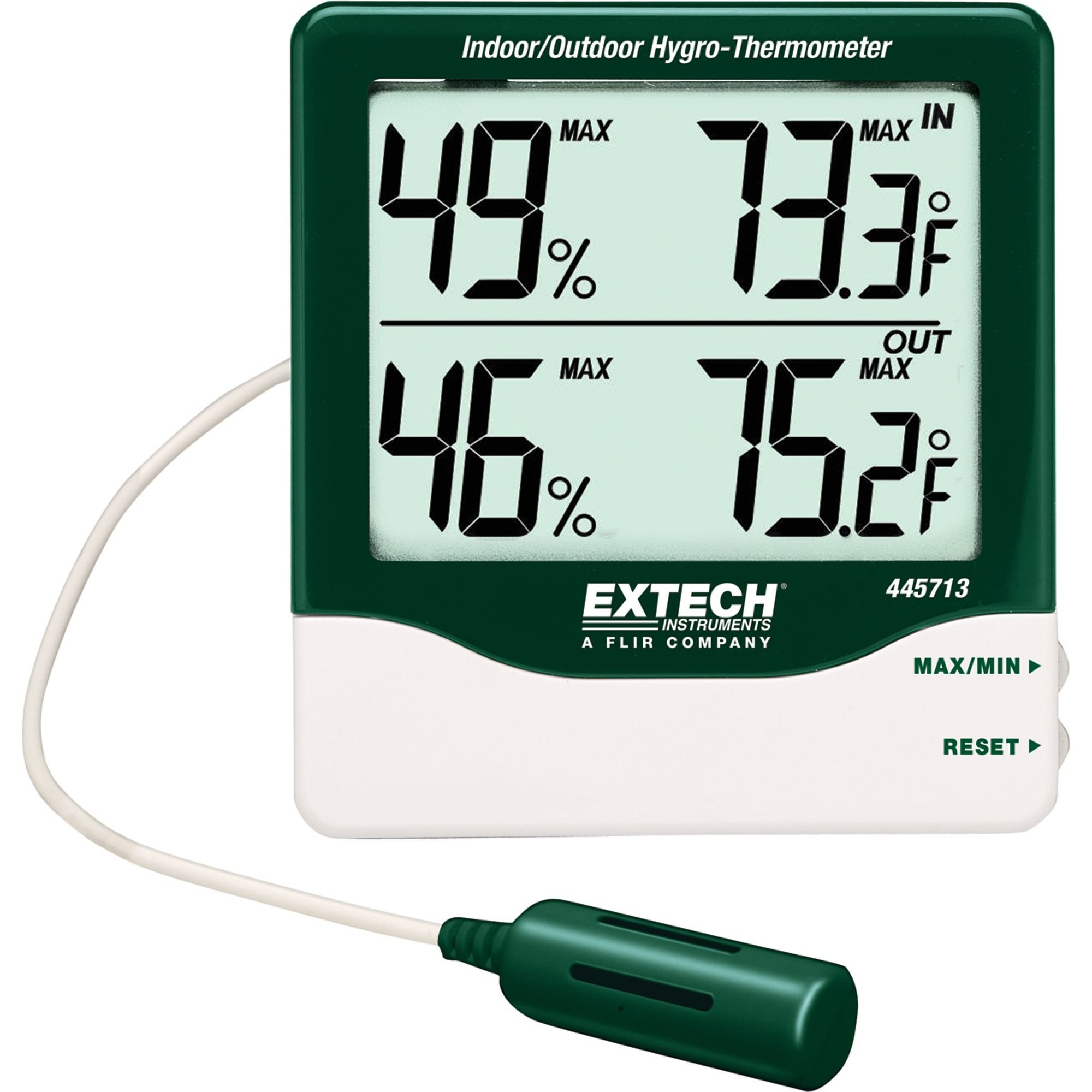 Extech 445713 Big Digit Indoor/Outdoor Hygro-Thermometer by Extech
