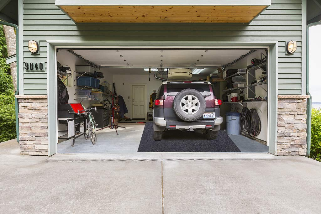 252inches x 91inches Absorbent,Waterproof,Washable Garage and Shop Parking Mats for Snow,Mud,Rain Garage Floor Mats Garage Floor Mats,Parking Mat for Under Cars