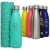 Bottiglia per acqua Sternitz in acciaio inossidabile senza BPA - 24 Ore Freddo & 12 Caldo - 500 ml. (Verde Acqua)