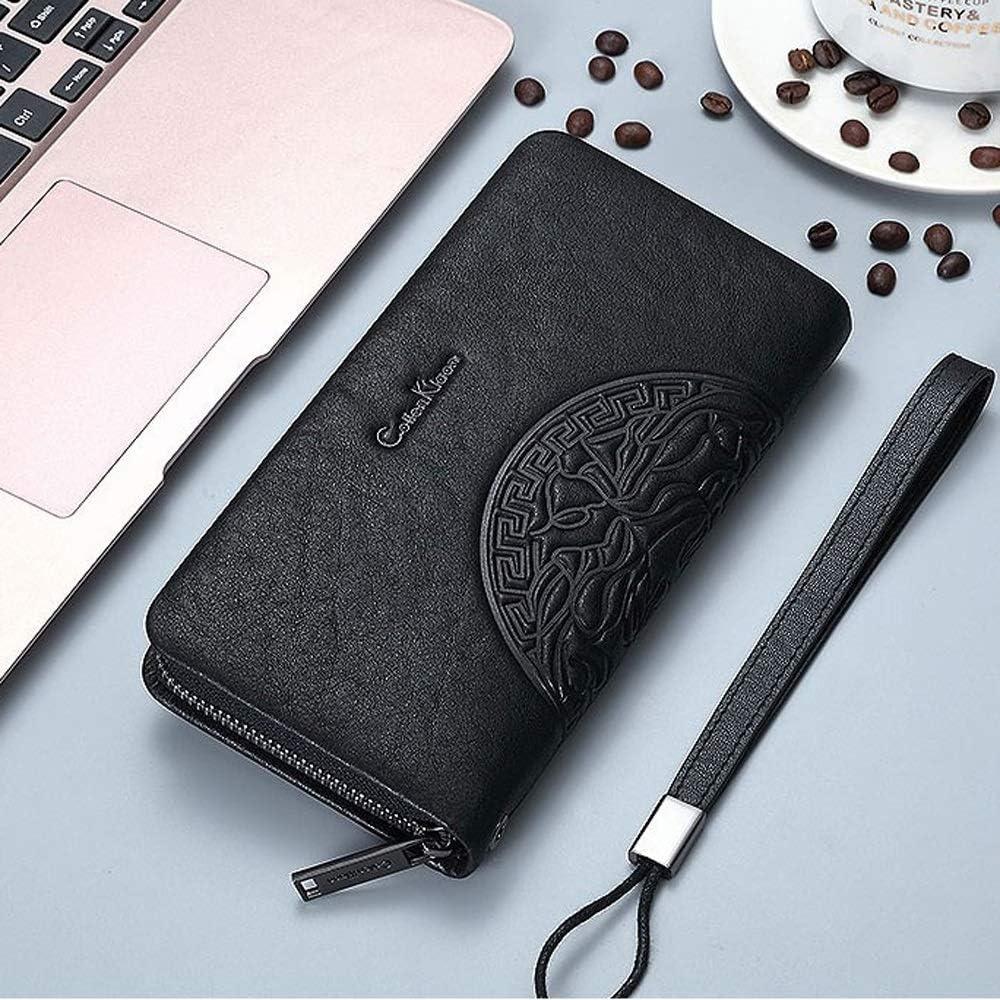Color : Black Wallet Leather Long Casual Bag Backpack YONGMEI Wallet