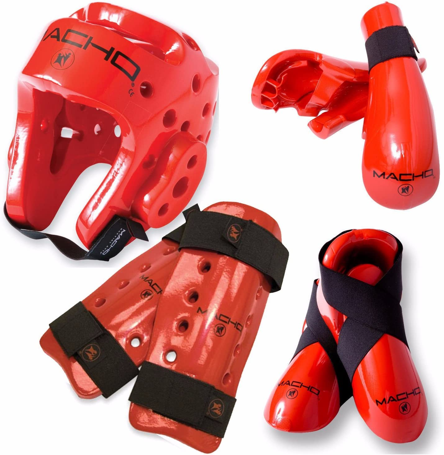 Macho Dyna Martial Arts// Karate 7PC Sparring Gear Set