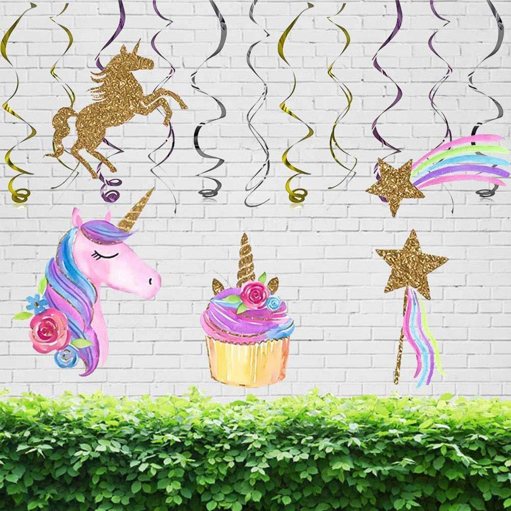Tumao Ghirlanda a Spirale di Unicorno-Decorazione per Unicorno Compleanno Baby Shower Pasqua Halloween Decorazione del Partito