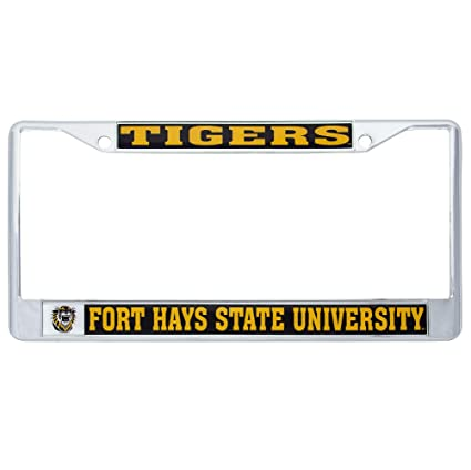 Desert Cactus Fort Hays State University Tigers Metal License Plate Frame for Front Back of Car Officially Licensed Mascot