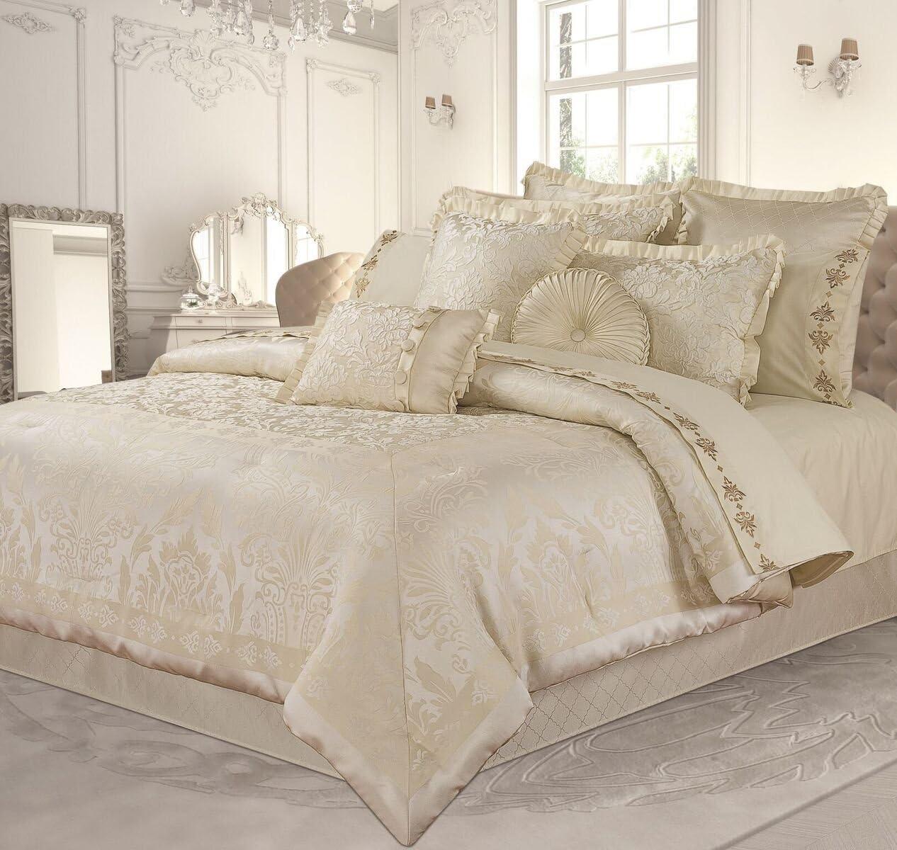 New Season Home Athena Comforter Set Queen Cream 6 Piece Amazon Ca Home Kitchen