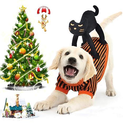 Idepet Abrigo Perro Navidad, Disfraz de Perro con Diseño de Gato ...