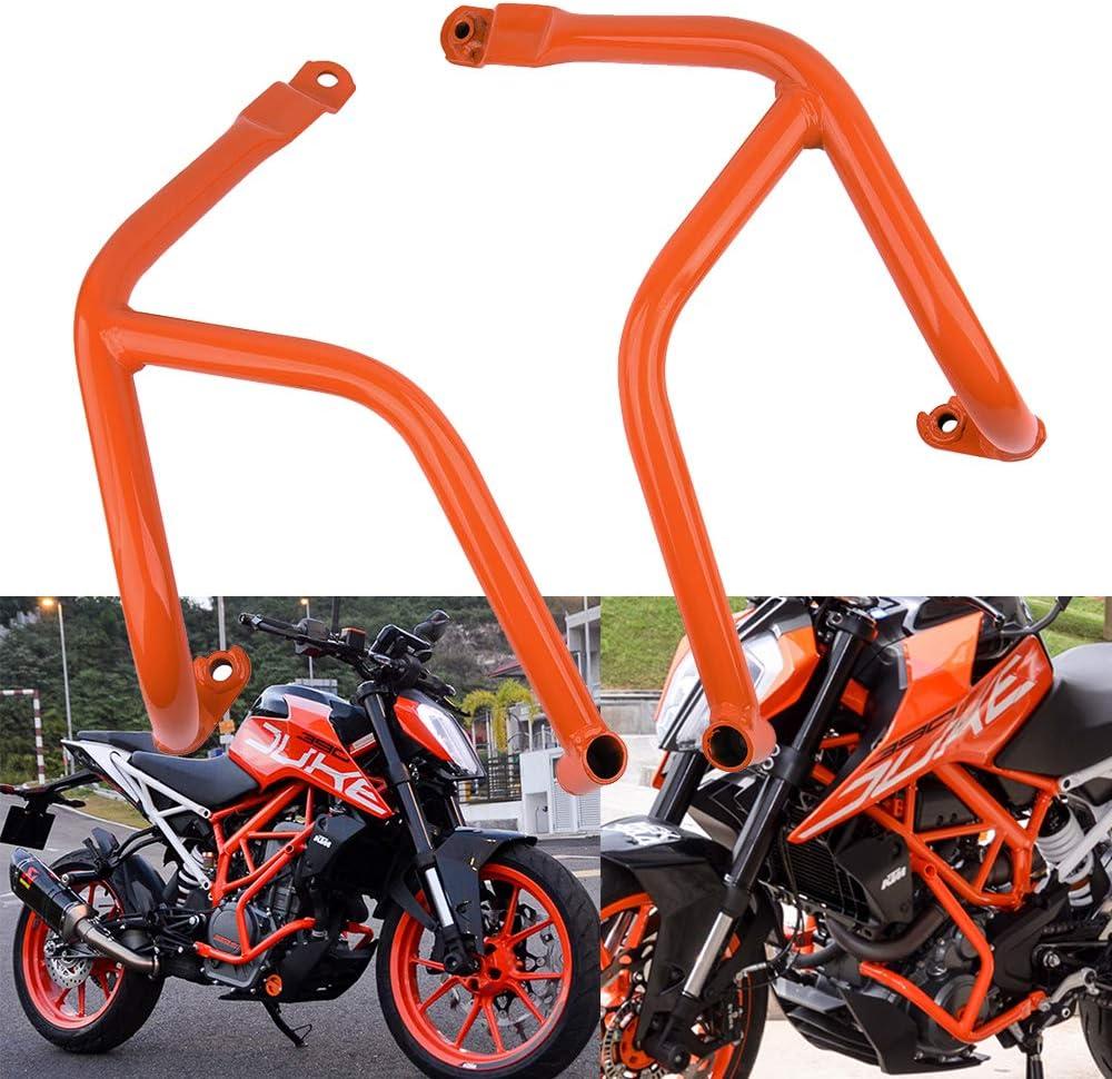 Motorcycle Engine Guard Crash Bars Bar Bumper Body Frame Sliders Protector Damaged Accessories For K.T.M DUKE 250 390 2017-2018 Orange