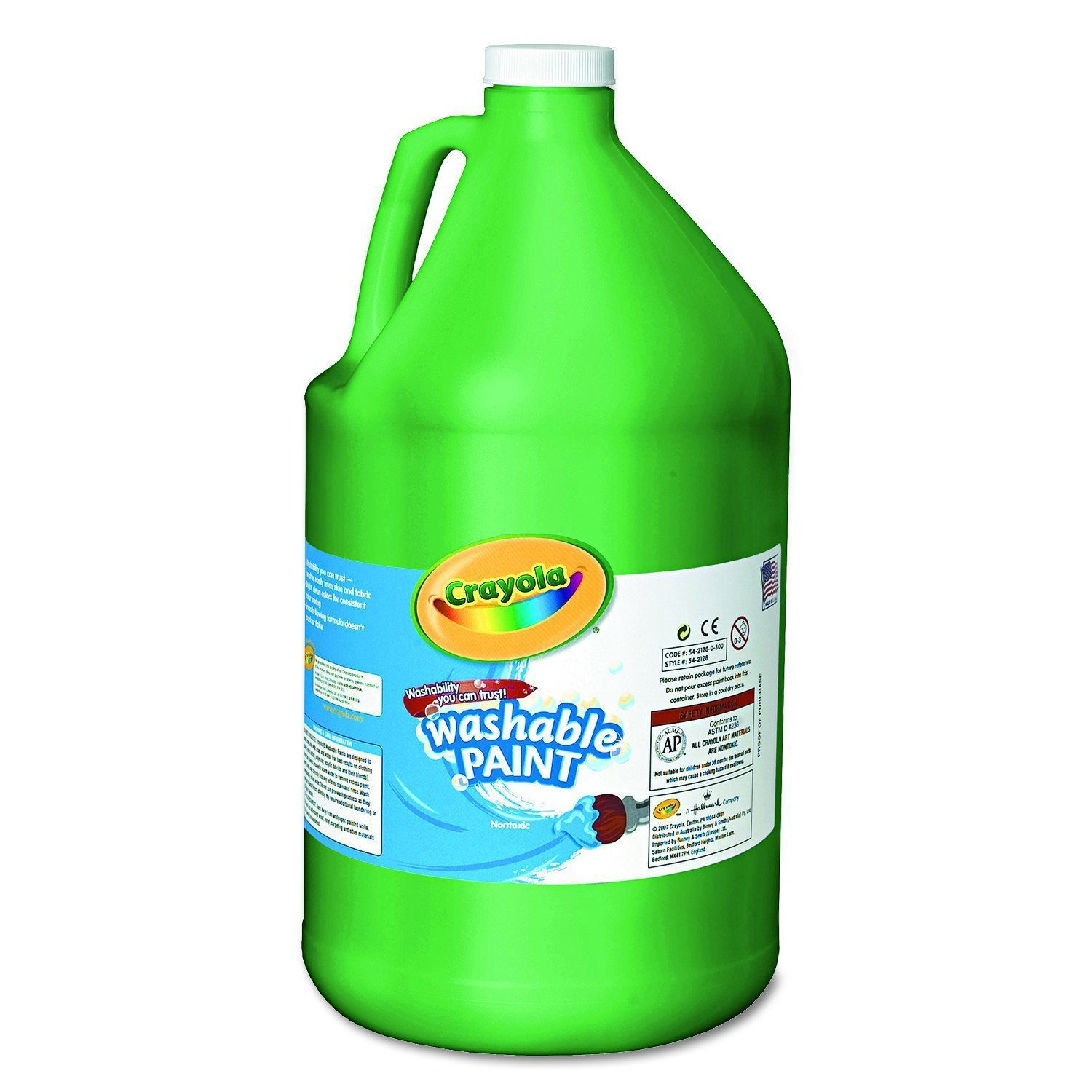 Crayola Washable Green Paint, 1 Gallon Size, Painting Supplies in Bulk by Crayola
