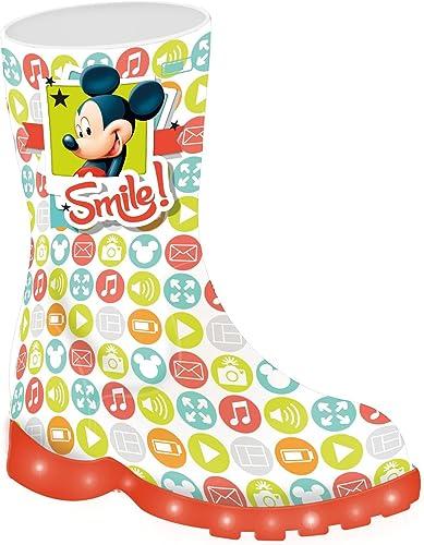 Bottes de led Mouse Disney Mickey pluie avec lumières b6fgy7