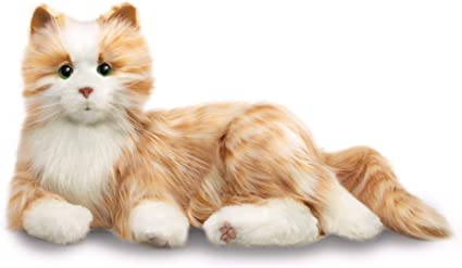Cats Hasbro/'s Lifelike Joy for All Companion Cat-Orange Tabby Allergy Free Pet