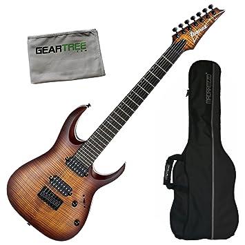 Ibanez rga742fmdef RGA estándar (7 cuerdas Guitarra eléctrica - ráfaga de ojo de dragón soporte de W/funda y gamuza de geartree: Amazon.es: Instrumentos ...