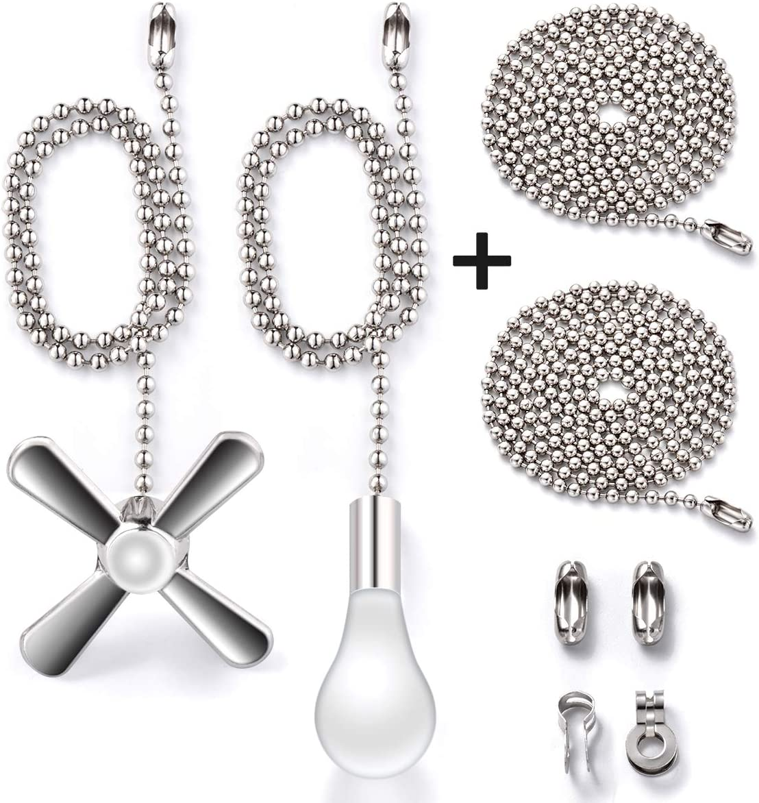 Fan Pull Chain with 35.4 inches Extension, Kinghouse 2 pcs 13.6 inches Copper Beaded Ball Fan Pull Chain Set including Beaded and Pull Loop Connectors, Christmas Holiday Gift Set: Kitchen & Dining