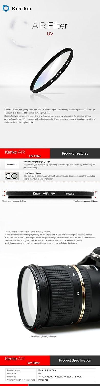 KENKO AIR UV Camera Lens Slim Frame Filter 67mm High Transmittance