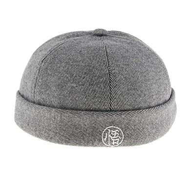 Homyl Vintage Docker Cap Hat Wool Felt Leon Beanie Cap Navy Watch Hat Skull  Cap - Light Gray 75f13108eee2