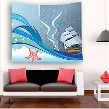 Amazon com: Nalahome-Blue Decor Ocean Sealife Nautical Navy