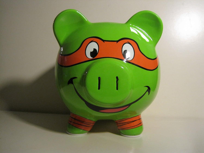 Teenage Mutant Ninja Turtle Michelangelo Orange Ceramic Piggy Bank