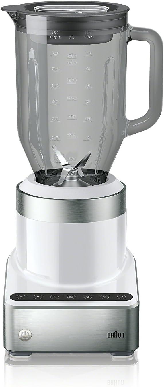 Braun JB7350 WHS PureMix Power Countertop Blender with Thermal Resistant Glass Jug, 56 Fl. Oz, White
