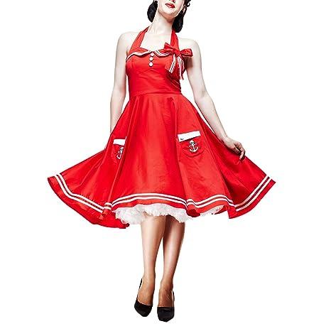 Vestido Rockabilly Años 50 - Motley - rojo - S
