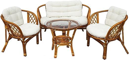 Mirjan24 VIP Bahama Salon de Jardin en Bambou avec 2 ...