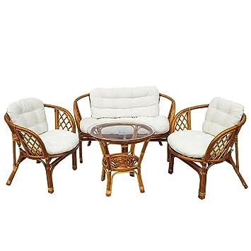 Mirjan24 Muebles de Jardín VIP Bahama, bambú con Ratán ...