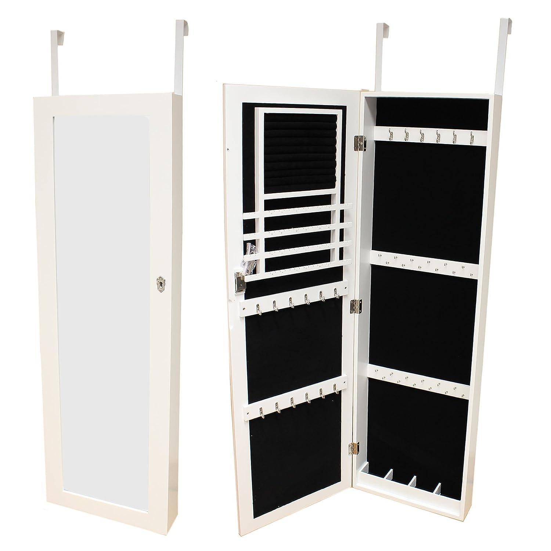Over The Door Mirrors Hartleys Door Wall Mounted Mirror Jewellery Organiser Cabinet